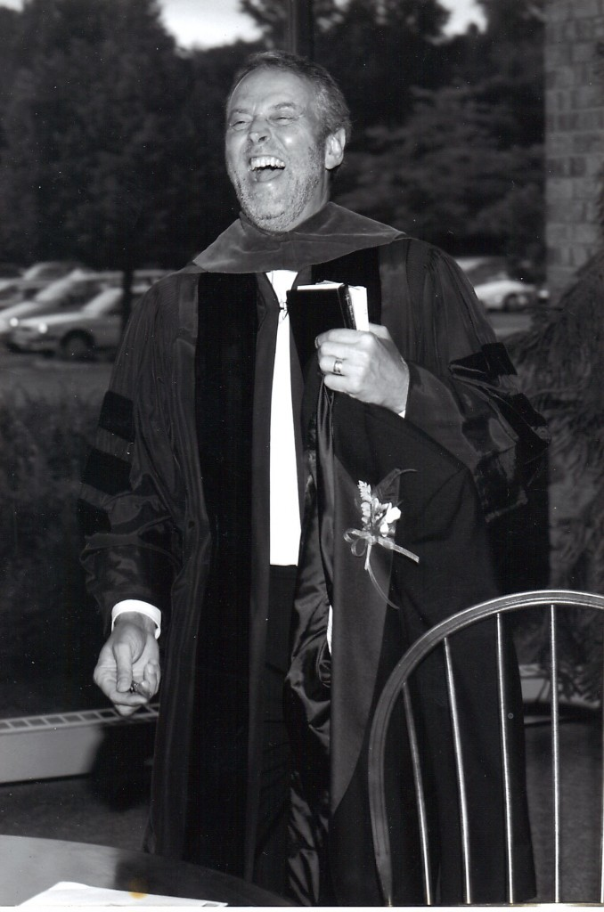 Gary Downing, full robes, full laughter, 1999